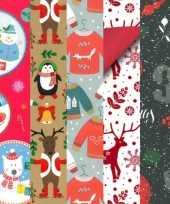 15x rollen kerst inpakpapier cadeaupapier diverse prints 2 5 x 0 7 meter voor kinderen