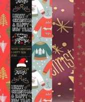 15x rollen kerst inpakpapier cadeaupapier diverse prints 2 5 x 0 7 meter voor volwassenen