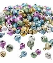 220x metalen belletjes gekleurd metallic glitter 8 10 mm met oog hobby knutsel benodigdheden