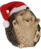 Egel met kerstmuts beeldjes kerstbeeldjes 9 x 8 cm 10213282