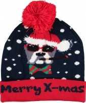 Foute kerstmutsen mutsen wintermutsen merry x mas met verlichting