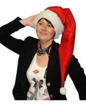 Lange rode kerstmuts voor volwassenen